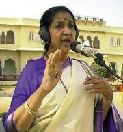 Ashaji during the recording in Jaipur