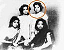 Young Asha with sisters
