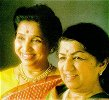 with Lata Mangeshkar